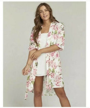 Show Me Your Mumu Garden Of Blooms Brie Robe Cover Up Kimono One Size - $11.30