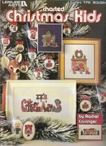 Charted Christmas Kids for Counted Cross Stitch Leaflet Leisure Arts 175 1980 - $6.92