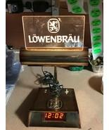 Antique 1982 Lowenbrau Clock Light #21-13661 Miller Brewing Co. - $50.00