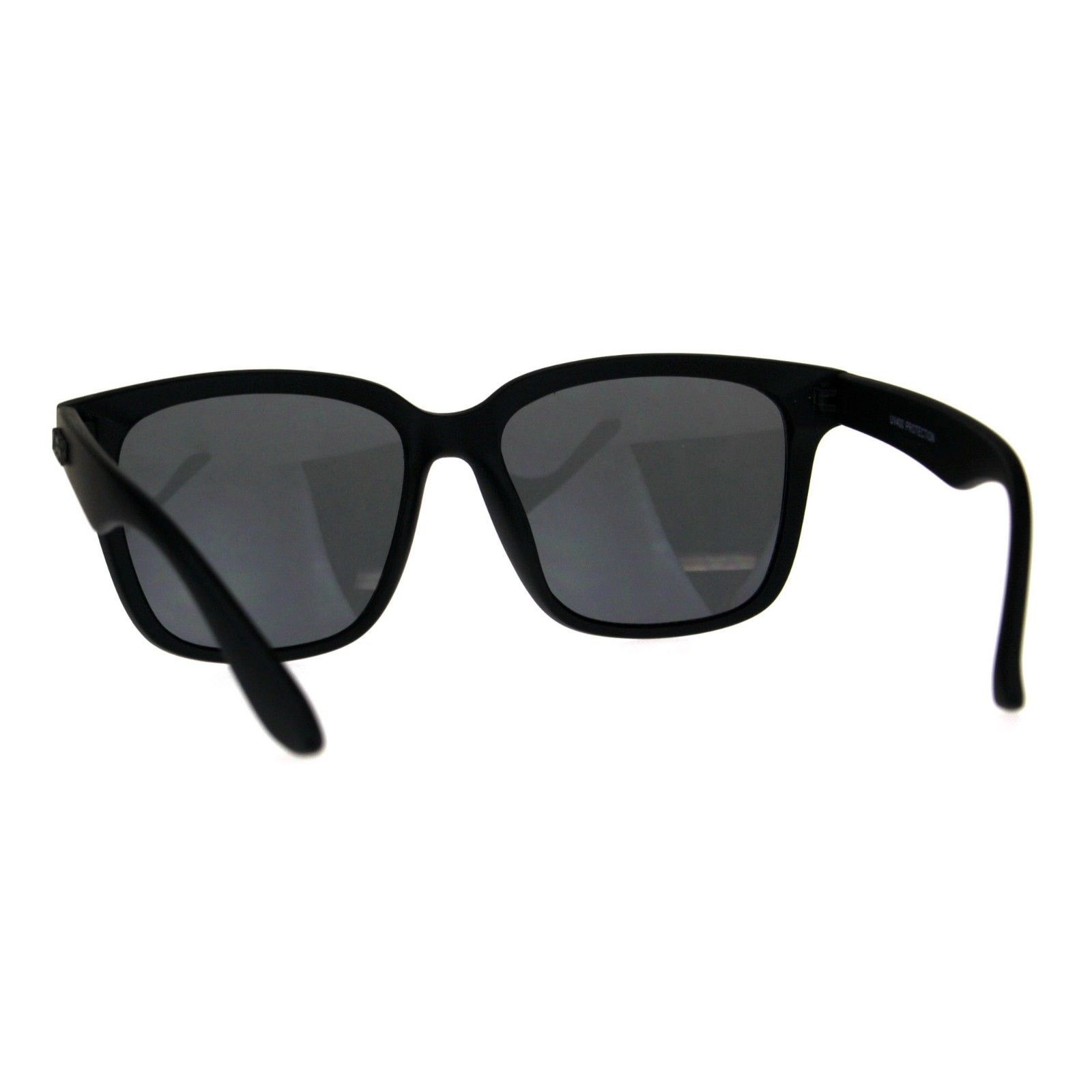 92dc0371e KUSH Sunglasses Unisex Black Square Frame Mirrored Lens UV 400
