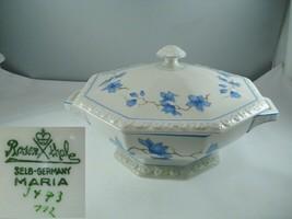 Rosenthal Maria 3473 Blue Floral Covered Vegetable Bowl - $98.99