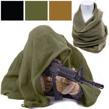 Tactical Concealment Sniper Veil Netting Mesh Hunting Scarf Head Cover - $16.99