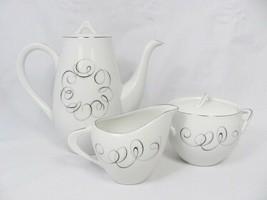 Style House Teapot Sugar Bowl Creamer Set Rhythm Atomic Abstract Streaml... - $58.04