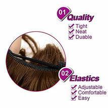 Abujia Messy Bun Hair Piece Hair Bun Extension Wavy Curly Messy Donut Hair Updo  image 4