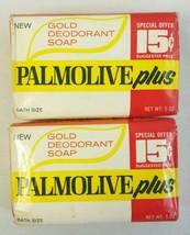 2 Palmolive Plus Gold Deodorant VTG Bath size 5... - $14.84
