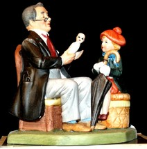 """1980 Figurine """"Doctor and the Doll"""" by Norman Rockwell with Box AA20-2182"""