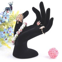 Hand Model Velvet Hand Display Jewelry Ring Organizer Bracelet Necklace ... - ₹1,023.33 INR