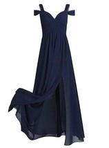 Women's Chiffon V Neck Flare Flowy Long Maxi Bridesmaid Formal Party Gow... - $27.71