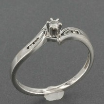Helzberg Diamonds Solid 10K White Gold Promise Ring approx. 0.06 ct tw Size 6 - $69.99