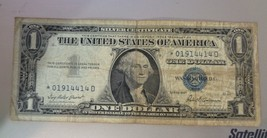 1957 Star Note $1 One Dollar Bill Silver Certificate Note BLUE SEAL.*019... - $2.95