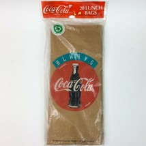 Coca Cola Paper Lunch Bags Qty 20 Always Coca Cola 1993 - $18.32