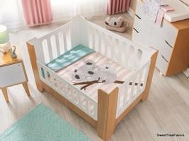 Forest Bear Koala Baby Girl Crib Bedding Set Nursery Comforter Baby Shower Gift - $89.05