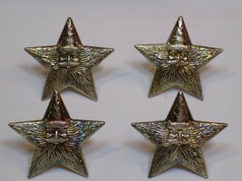 Napkin Rings Holder Set 4 Lot Christmas International Silver Santa Claus Stars - $19.99