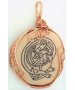 Celtic Knotwork Scrimshaw Otter Copper Wrap Pendant 14 - $27.86
