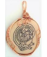 Celtic Knotwork Scrimshaw Otter Copper Wrap Pendant 14 - £21.30 GBP