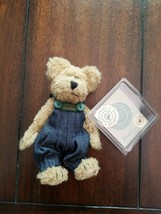"1994 Boyd Bears JB Bean 6 1/2"" Jointed Bear ""Huck"" Plush New With Tags - $3.96"