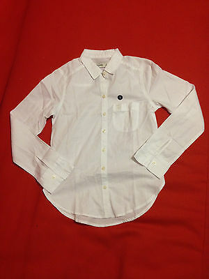 Primary image for Abercrombie Kids Girl Shirt 10 Classic White Long Sleeve Cotton Button Front New