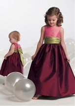 Alluring Taffeta Jewel Neckline Floor-length A-line Flower Girl Dress  - $98.00+