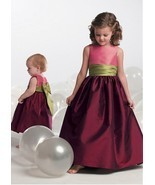 Alluring Taffeta Jewel Neckline Floor-length A-line Flower Girl Dress  - $134.46 CAD+