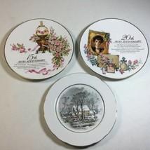 Vintage Avon Plates 20th / 15th Anniversary and Snow Scene  Decorative Plates - $9.90