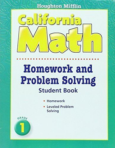 Houghton Mifflin Mathmatics California: Homework And Problem Solving Book Consum