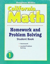 Houghton Mifflin Mathmatics California: Homework And Problem Solving Boo... - $12.82