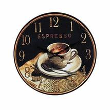 PANDA SUPERSTORE Retro Nostalgia Wooden Wall Clock Vintage Look Home Decoration(