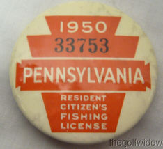 3 Vintage Pennsylvania Fishing Licenses 47-50-53 image 4