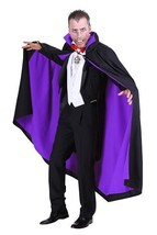 The Count - Deluxe Vampire / Gothic Cloak - Black with Purple lining - $45.43