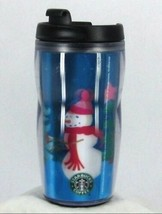 STARBUCKS COFFEE CO. 2006 Plastic Travel Tumbler 8 oz Lenticular Snowmen... - $23.86