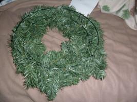 "20"" Christmas  Westlake Blue/Green Wreath Unlit Undecorated - $13.84"