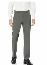 NEW Perry Ellis Men's Modern Fit Small Check Performance Pant Magnet 34W X 32L - $25.43