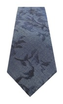 NEW BAR III CHAMBRAY FLORAL LEAF BLUE 100% COTTON SKINNY NECK TIE $55 - $8.90