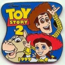 Jessie  Bullseye  &  Woody Toy Story 2  dated  1999 Austenitic Disney pin - $9.99
