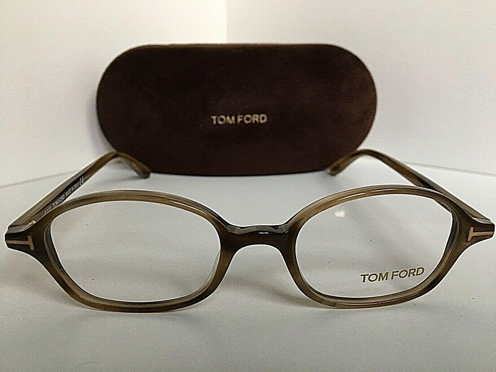 New Tom Ford TF 5151 047 47mm Rx Light Havana Eyeglasses Frame Italy
