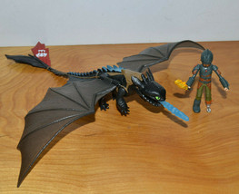 How To Train Your Dragon Toothless & Hiccup Action Figure Lot Spin Master - $39.86