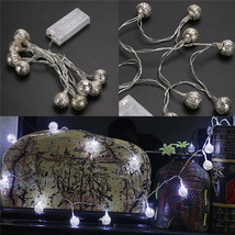 (20 LED white)10 LED Battery Operated Heart Shaped Christmas String Light F - $18.00