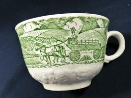 VTG 1950s Homer Laughlin USA Green White Transferware Pastoral  Cup Hors... - $17.82
