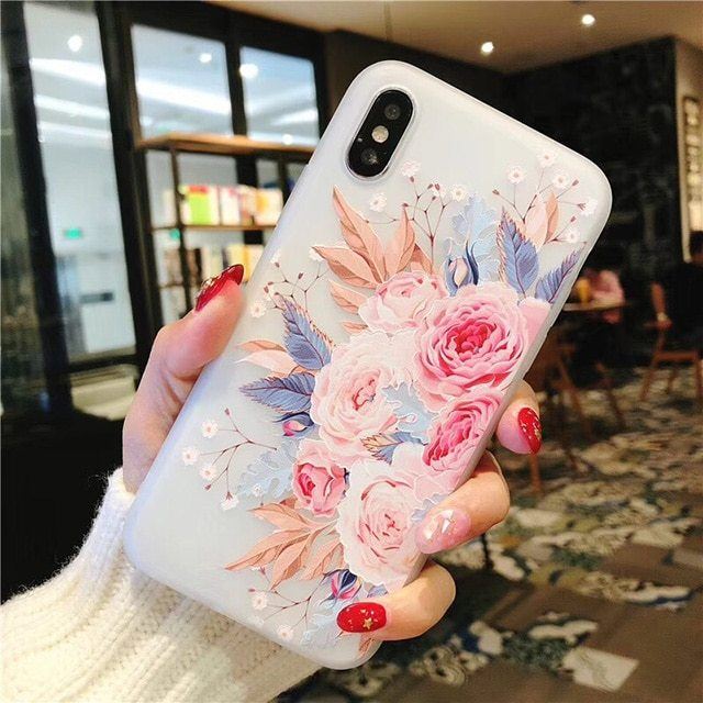 3d Flower Silicone Phone Case For Xiaomi Redmi (3d Relief Flower 9) - $12.99