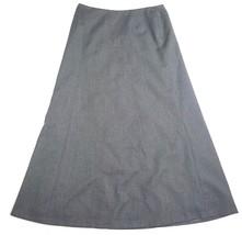 Talbots Womens Size 10 Full Length Grey Career Skirt 100% Wool Lined EUC - $13.09