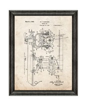 Radial Saw Patent Print Old Look with Black Wood Frame - $24.95+