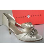 Ivanka Trump Nanci2 Women's Bridal Evening Heels Pumps Ivory Satin Size ... - $65.78