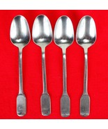 4X Dinner Place Table Spoons FB Rogers Stainless Flat Square End Flatwar... - $38.61