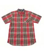 The North Face Camisa Manga Corta Adulto Medio Rojo Cuadros Nailon Mezcla - $22.94