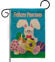 Felices Pascuas Burlap - Impressions Decorative Garden Flag G153029S-DB - $22.97