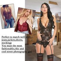 Women's Sexy Backless Lace Babydoll with Garter Sexy Lingerie Set image 5