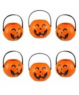 Kesoto Halloween Pumpkin Candy Holder Halloween Candy Bucket with Handle... - £10.29 GBP