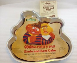 Wilton Ernie & Bert Cake Pan Mold Cover Sheet 502-7423 + Instructions Mu... - $31.85