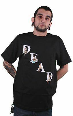 Streetwear Deadline Men's Black  Dead Pin Up Girls T-Shirt NEW
