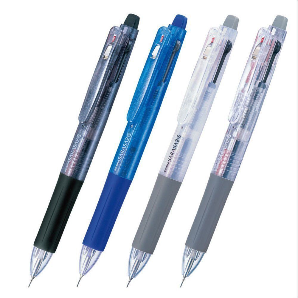 [Xmas] Zebra SARASA SJ2 Black,Blue,White,Transparent 0.5mm Multi Pens (4pcs)-MIX
